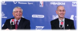 NBA former and current Commissiners David Stern and Adam Silver
