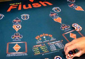 High Card Flush Rules Pay Table