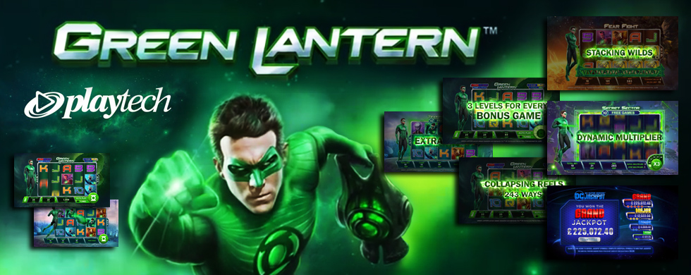 DC Comics Slots from Playtech Green Lantern Slot