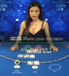 Ezugi Live Casino Hold'em Demo