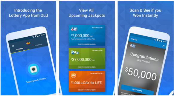 Functions of New Mobile Gambling App OLG Lottery