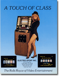 Early SIRCOMA Video Poker Machine