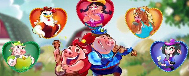 Farm Animal Slots Characters