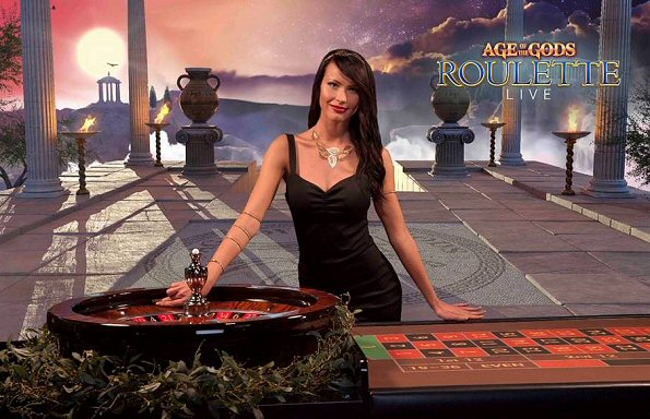 Age Of The Gods Live Roulette Progressive Jackpot Game