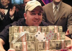 Chri Moneymaker wins 2003 WSOP Championship