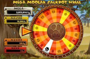 Mega Moolah Progressive Jackpot Wheel Bonus Game