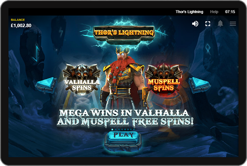 Red Tiger's New 7-Reel Video Slots Game Thor's Lightning a Smashing Hit