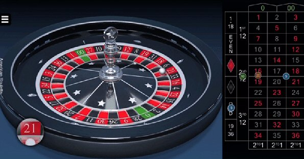 Microgaming 3D American Roulette by Switch Studios