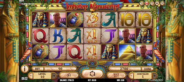 New from FUGASO Imhotep Manuscript Slot Review