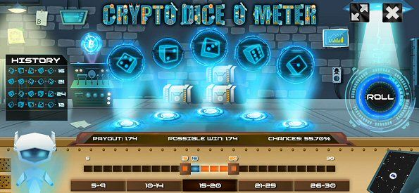Crypto Dice O Meter Original Casino Games by CWS