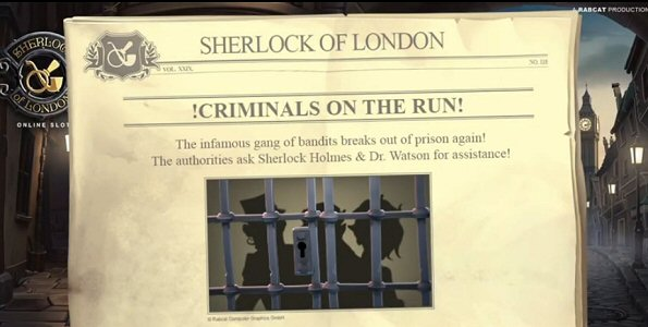 Sherlock of London Slot Free Spins Feature