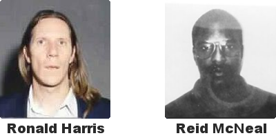 Ronald Harris and Reid McNeal arrested in 1995 for cheating slot machines in Las Vegas and Atlantic City