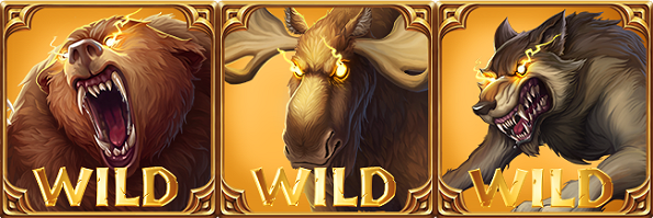 Untamed Wilds Online Slot Features Bear Moose and Wolf Wilds
