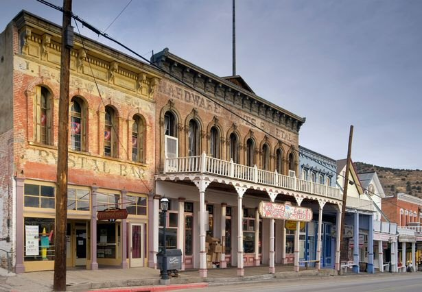 C Street Virginia City, Nevada - Almay Stock Photos