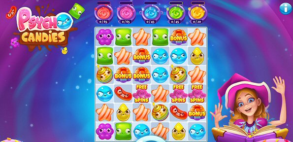 New Psycho Candies Online Slot by Gluck Games for Microgaming